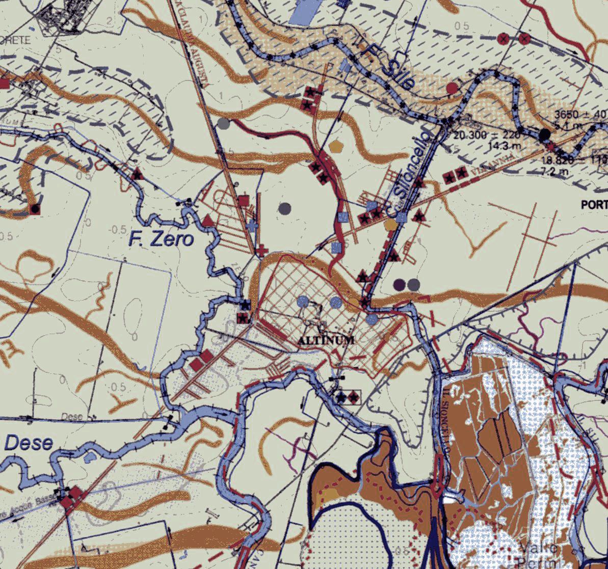 Mappa antica del territorio