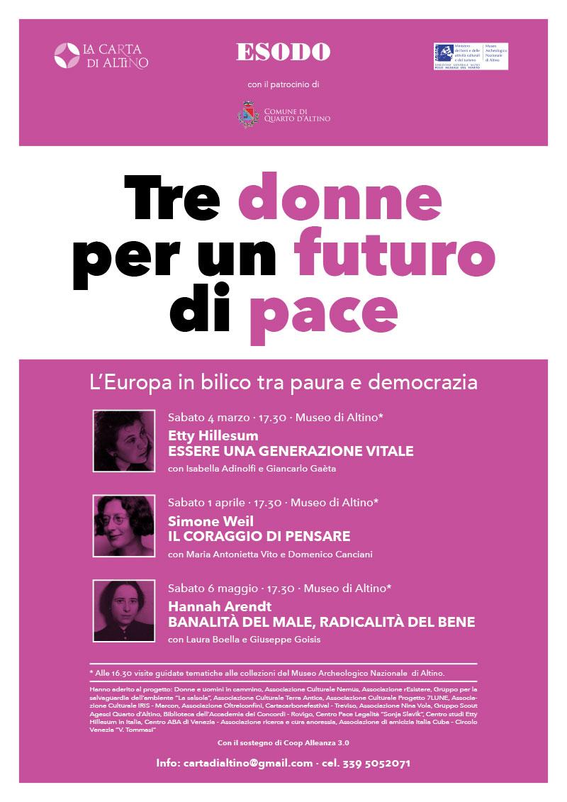 Tre donne per un futuro di pace